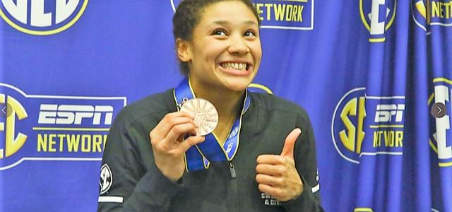 Plongeon : Alaïs KALONJI médaille de bronze à Athens (Géorgie USA)