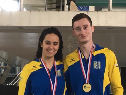 Maïssam et Benjamin Champions au 10m